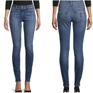 Hudson Collin Midrise Skinny Jeans Flap Pockets